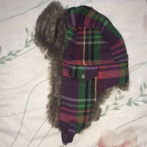 Warm fuzzy hat